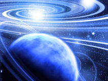 Planet near spiral Royalty Free Stock Images