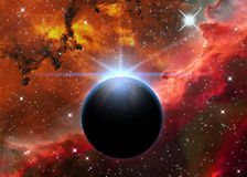 Planet and Nebula Royalty Free Stock Photo