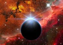 Planet and Nebula Royalty Free Stock Photo