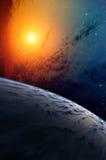 Planet and nebula. Stock Photo