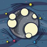 Planet in the nebulae space with astral stars. Vector illustration stock illustration