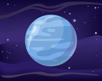 Planet Neptune in Space Background Royalty Free Stock Photos