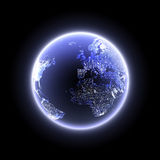 Planet in the night Stock Photos