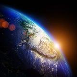 Planet night map Royalty Free Stock Photos