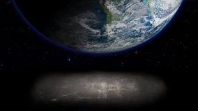 Planet och abstrakt begreppyttersida. Arkivfoto