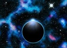 Planet och Nebula Stock Illustrationer