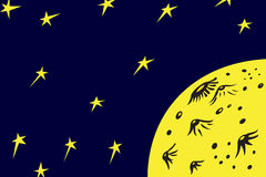 Planet och stjärnor Arkivbild