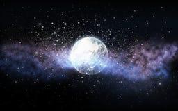 Planet och stjärnor i utrymme Royaltyfri Foto