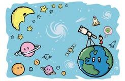 Planet och universum Arkivbilder