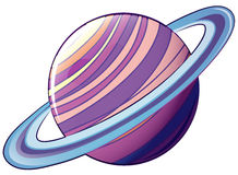 A planet with an orbit Royalty Free Stock Photo