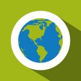 Planet over circle design Stock Photos