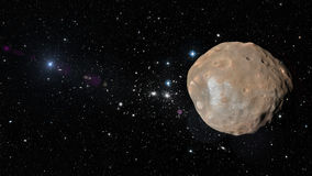 Planet Phobos in outer space. Elements of this image furnished by NASA Royalty Free Stock Image