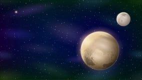 Planet Pluto, Seamless Loop stock video footage