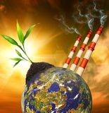 Planet pollution Royalty Free Stock Photo