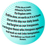 Planet prayer Our Father Stock Image