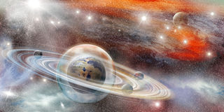 Planet in a protective sphere Royalty Free Stock Photography