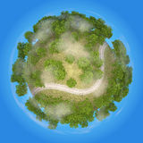 Planet RailRoad 3D. With blue background version 02 Stock Image
