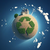 Planet of recycling Royalty Free Stock Photo