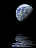 Planet reflection Royalty Free Stock Photo