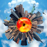 Planet representing New-York city, USA Stock Images