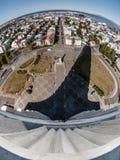 Planet Reykjavik. View of Reykjavik from Hallgrimskirkja (Iceland Stock Photography