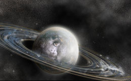 Planet with ring system Stock Photography