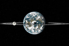 Planet with rings Royalty Free Stock Photos