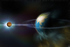 Planet with rings Royalty Free Stock Photo