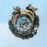 Planet Rochester. Panoramic photo wrapped 360 degrees Royalty Free Stock Images