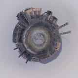 Planet ` Rohr-Zementfabrik ` verseuchen die Umwelt Stockfotos