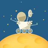 Planet rover on the moon,vector illustration Royalty Free Stock Images