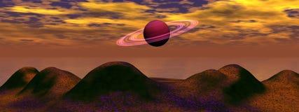 Planet satrun Stock Photography
