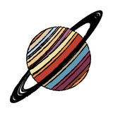 planet saturn astronomy universe icon Stock Photography