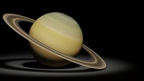 Planet Saturn, cirkelplaneten, solsystemuppsättning royaltyfri illustrationer