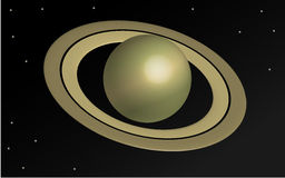 Planet Saturn in 3D Lizenzfreie Stockfotos