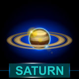 Planet saturn Royalty Free Stock Photos