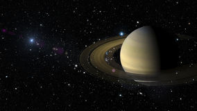 Planet Saturn in outer space. Elements of this image furnished by NASA Royalty Free Stock Photo