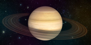 Planet saturn with rings stock illustration