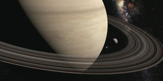 Planet saturn with rings Stock Images