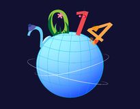 Planet 2014 vector illustration