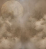 Planet in the sky. Fantastic planets in the sky with clouds stock photos