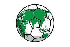 Planet Soccer Royalty Free Stock Photography