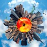 Planet som föreställer New York City, USA Arkivbilder