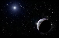 Planet in space Stock Photo