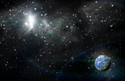 Planet in space Royalty Free Stock Image