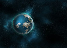 Planet in space Royalty Free Stock Photos