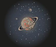 Planet in Space Royalty Free Stock Photo