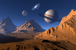 A planet is in space Royalty Free Stock Images