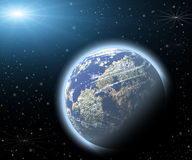 Planet in a space. Royalty Free Stock Photos