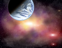 Planet in a space. Stock Images
